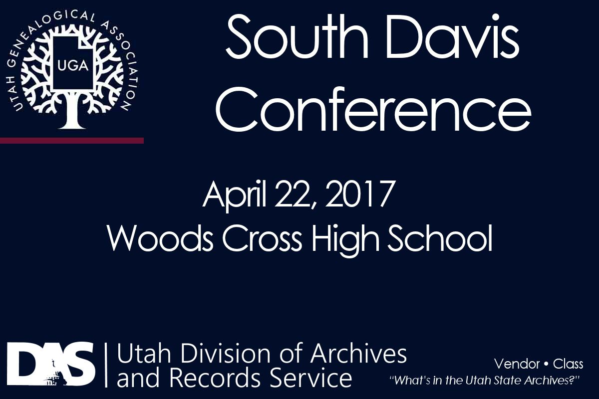 Archives at South Davis Conference 2017